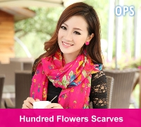 flower scarves button